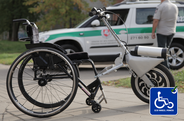Eco Wheel Power - neįgaliųjų vežimėlio priedas